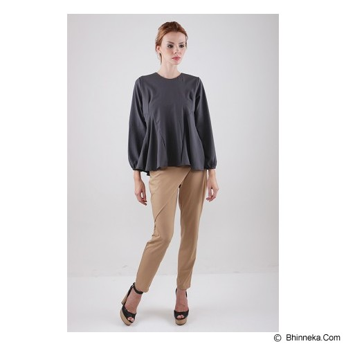 COVERING STORY Atasan Muslim Adhisti Top [CS 225 C ] - Grey - Blouse dan Tunik Wanita