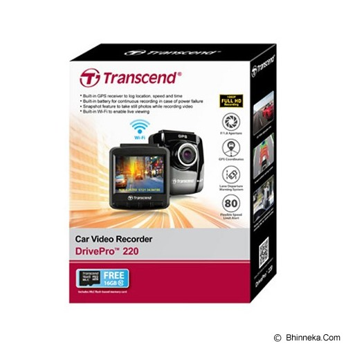 TRANSCEND DrivePro 100 Car Video Recorders - Kamera Mobil
