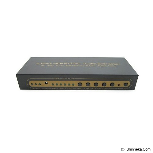 ANYLINX HDMI Switch 3 Port HDMI/MHL Audio SPDIF+R/L Extractor 4K 2K - Hitam - Switch Hdmi