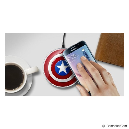 OFFICIAL SAMSUNG Wireless Charging Pad [EP-PG920I] - Avengers Series Captain America - Charger Handphone