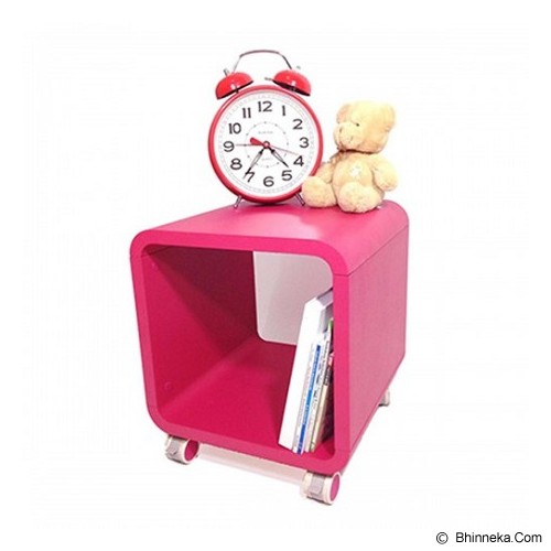 PRISSILA HOME LIVING Mplay Night Stand - Fuchia - Rak Serbaguna