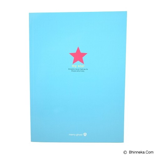 MERRY GHOST Writing Book My Star 26cm [16B-895] - Blue (V) - Buku Tulis