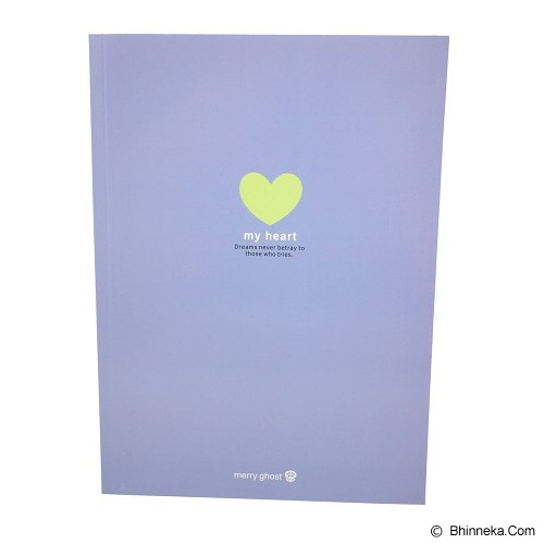 MERRY GHOST Writing Book My Star 26cm [16B-895] - Purple (V) - Buku Tulis