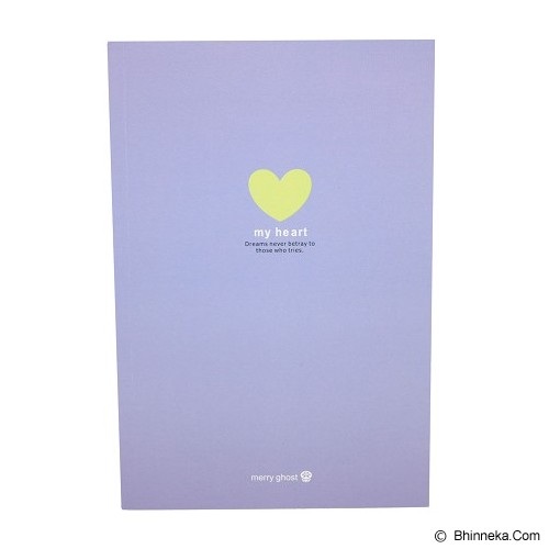 MERRY GHOST Writing Book My Star 20cm [22B-895] - Purple (V) - Buku Tulis