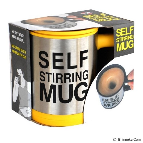 RAJA UNIK Self Stirring Mug - Yellow - Gelas