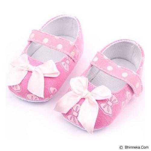 AXHL Prewalker Polkadot Ribbon 12cm - Pink - Sepatu Anak