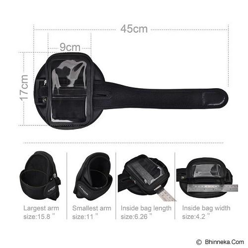 AVANTREE Trackpouch Multifunctional Sports Armband [6642502501] - Black - Arm Band / Wrist Strap Handphone