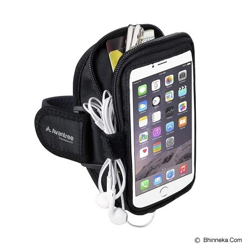 AVANTREE Trackpouch Multifunctional Sports Armband [6642502501] - Black - Arm Band / Wrist Strap Handphone