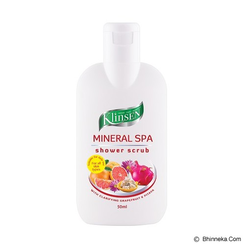 KLINSEN Shower Scrub - Mineral Spa 50ml - Lulur Tubuh / Body Scrub