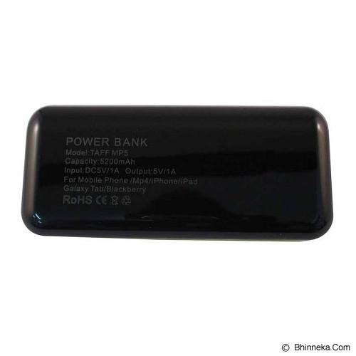 TAFF Powerbank MP5 5200mAh - Black with Yelow Side - Portable Charger / Power Bank