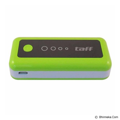 TAFF Powerbank MP5 5200mAh - Green with White Side - Portable Charger / Power Bank