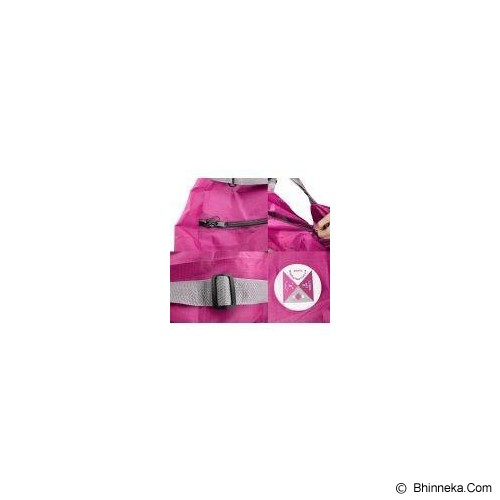 ICONIC Three Way Foldable Bag with Carrying Pouch - Hot Pink - Cross-Body Bag Wanita