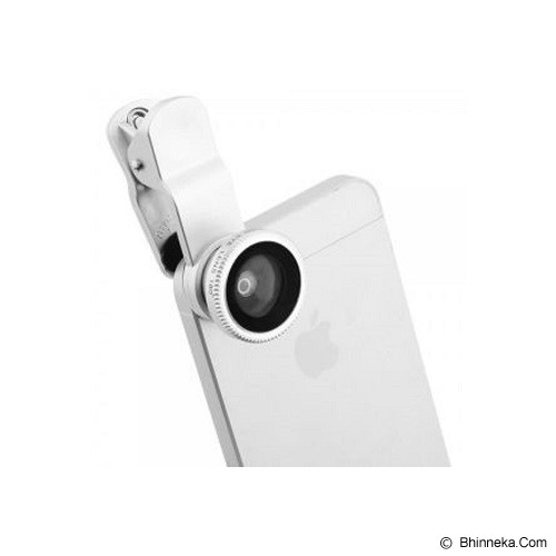 IBOOLO 3 In 1 Clip Lens - White with Silver - Gadget Activity Device