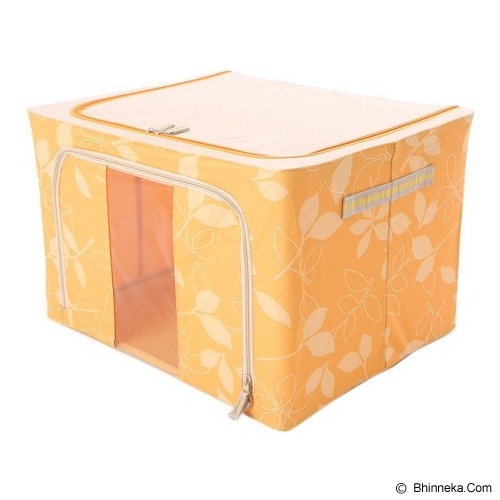 FIRST PROJECT Steel Frame Oxford Storage Box - Yellow - Container
