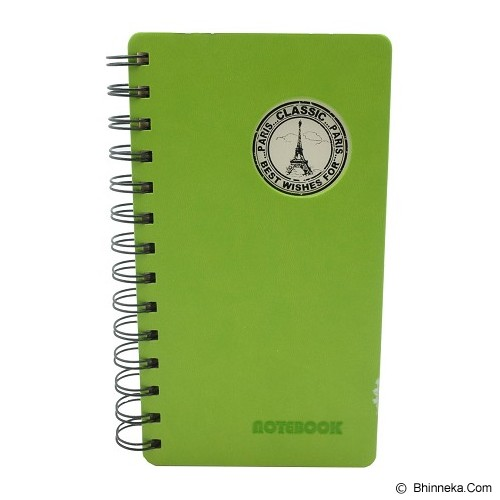 SSLAND Notebook Hardcover Paris Classic 19cm [M48K8038] - Green (V) - Buku Catatan / Journal