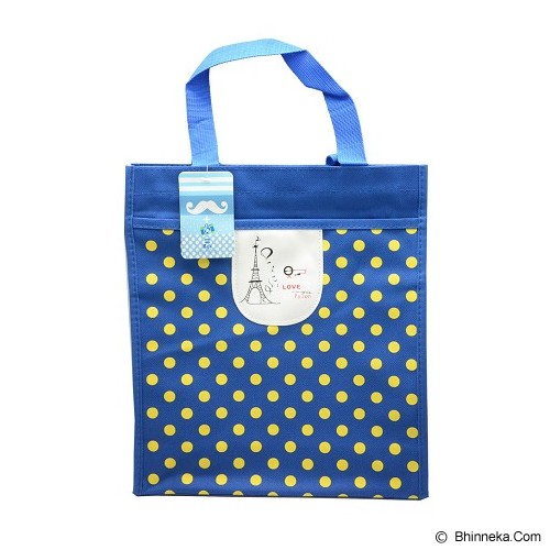 SSLAND Paris Polkadot Bag 31cm [TA86] - Blue (V) - Tote Bag Wanita
