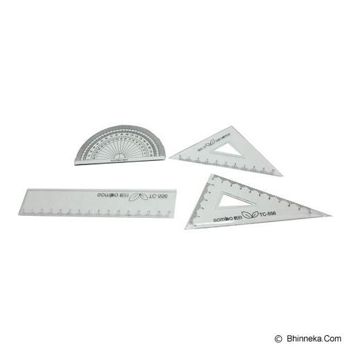 SOMBO School Ruler Set [RLTC556] - Two Rabbit (V) - Penggaris Plastik