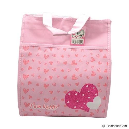 SSLAND I am Happy Love Bag 32cm [A56] - Pink (V) - Tote Bag Wanita
