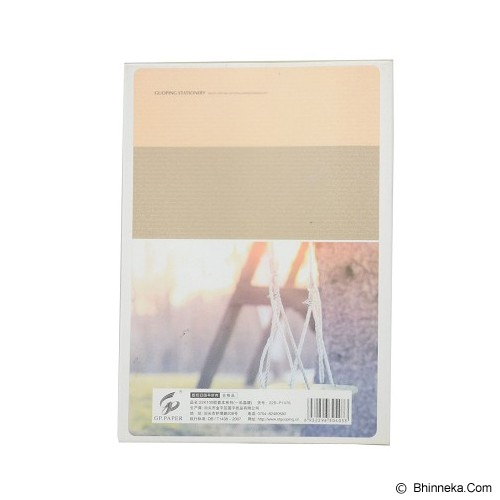 GUOPING STATIONERY Notebook Light Time 20cm [N22BP1476] - Brown (V) - Buku Catatan / Journal