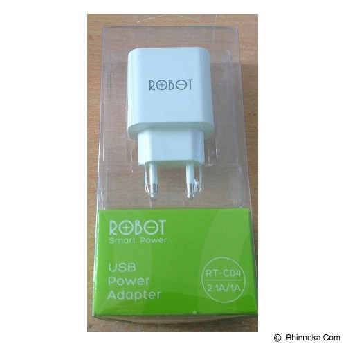 ROBOT Fast Adaptor Charger 2.1A [RT-C04] (Merchant) - Universal Charger Kit