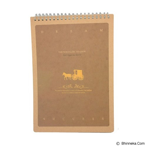 SSLAND Vertical Ring Notebook Dream Success 26cm [N16C921] - Brown (V) - Buku Catatan / Journal