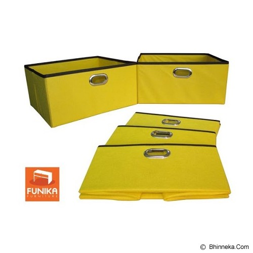 FUNIKA Non Woven Storage Bin Organiser Set of 5 [13162IV] - Yellow - Container