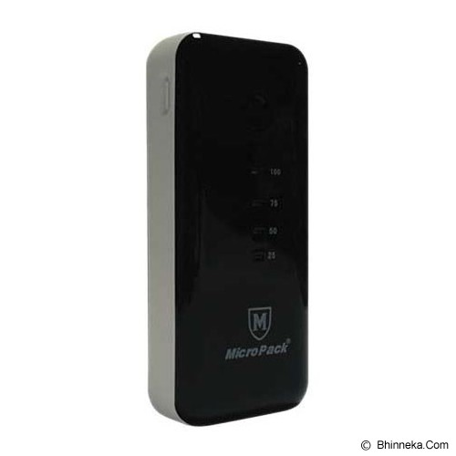 MICROPACK Powerbank 5200mAh [P5200] - Black/Grey - Portable Charger / Power Bank