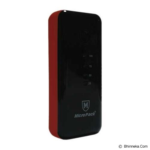 MICROPACK Powerbank 5200mAh [P5200] - Black/Red - Portable Charger / Power Bank