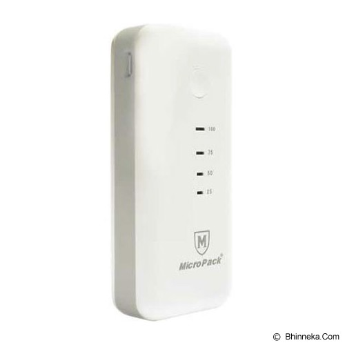 MICROPACK Powerbank 5200mAh [P5200] - White/Grey - Portable Charger / Power Bank