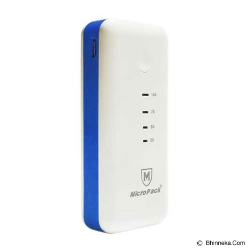 MICROPACK Powerbank 5200mAh [P5200] - White/Blue - Portable Charger / Power Bank