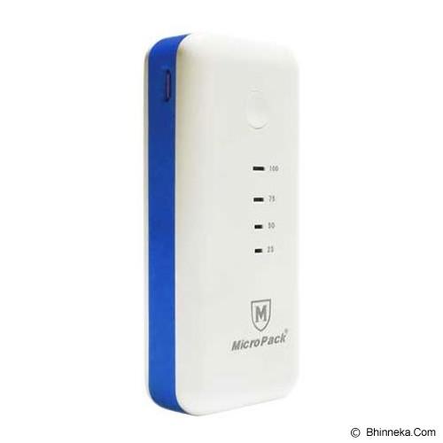 MICROPACK Powerbank 5200mAh [P5200] - White/Blue - Portable Charger / Power Bank