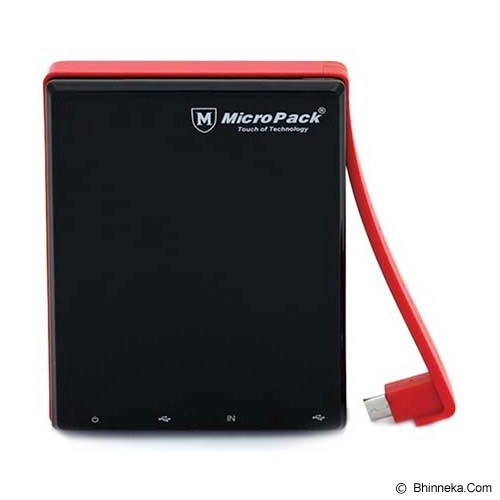 MICROPACK Powerbank 10000mAh [P10000P] - Black - Portable Charger / Power Bank