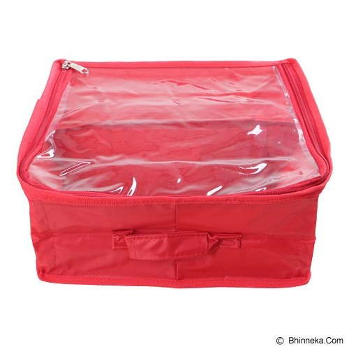 RADYSA Shoe Case Organizer 2 Partition - Red - Rak Sepatu