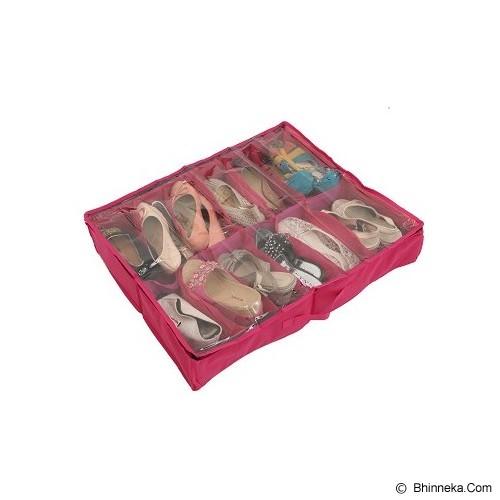 RADYSA Shoe Case Organizer 12 Partition - Red - Rak Sepatu
