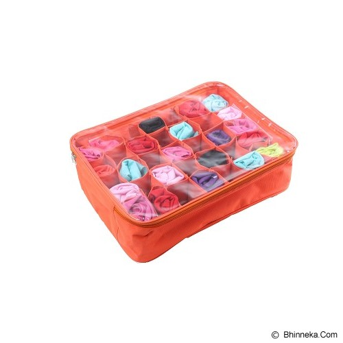 RADYSA Panty Case Organizer - Orange - Container