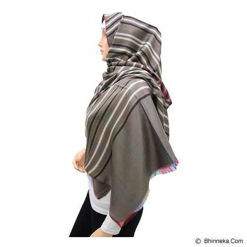 VSTAR Line Pashmina Colors - Brown White  (V) - Pasmina