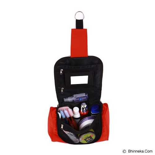 RADYSA Toiletries Bag Organizer - Merah - Tas Kosmetik / Make Up Bag