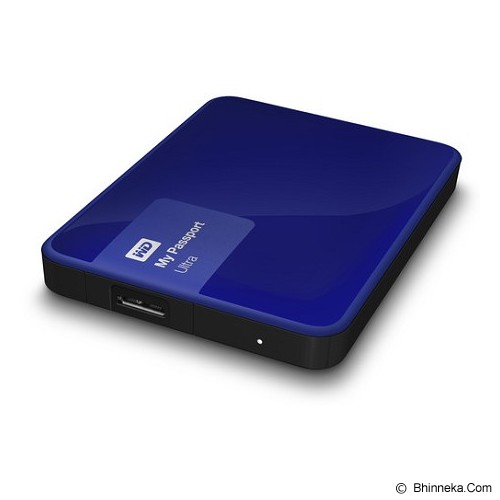 WD My Passport Ultra New 1TB USB 3.0 [WDBGPU0010BBL-PESN] - Blue - Hard Disk External 2.5 Inch