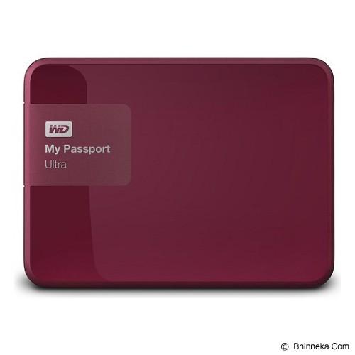 WD My Passport Ultra New 1TB USB 3.0 [WDBGPU0010BBY-PESN] - Berry - Hard Disk External 2.5 Inch