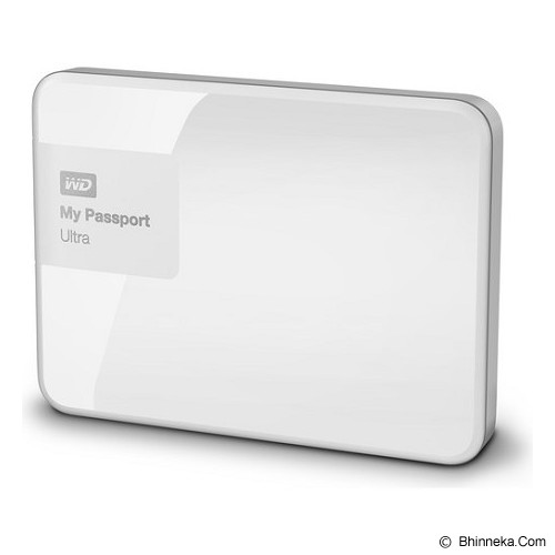 WD My Passport Ultra New 1TB USB 3.0 [WDBGPU0010BWT-PESN] - White - Hard Disk External 2.5 Inch