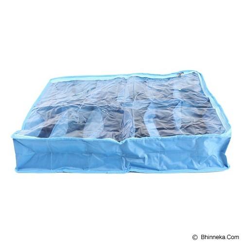 RADYSA Shoe Case Organizer 12 Partition - Dark Blue - Rak Sepatu
