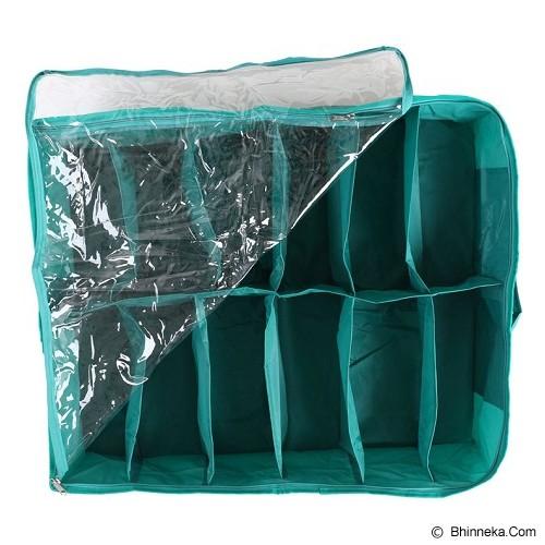 RADYSA Shoe Case Organizer 12 Partition - Green - Rak Sepatu