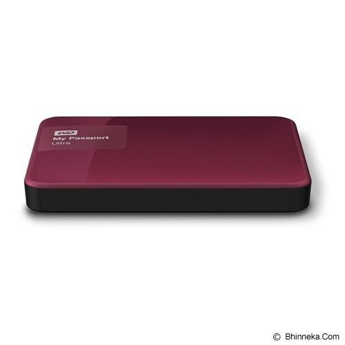 WD My Passport Ultra New 3TB USB 3.0 [WDBBKD0030BBY-PESN] - Berry - Hard Disk External 2.5 Inch