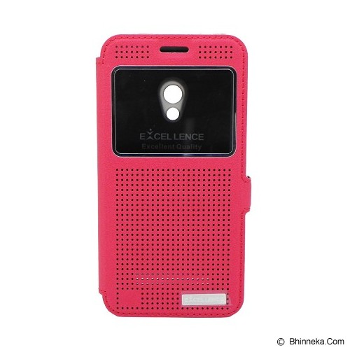 EXCELLENCE Leather Case Flip Firefly for Asus Zenfone 5 [ALCASZF5FFVE] - Red - Casing Handphone / Case