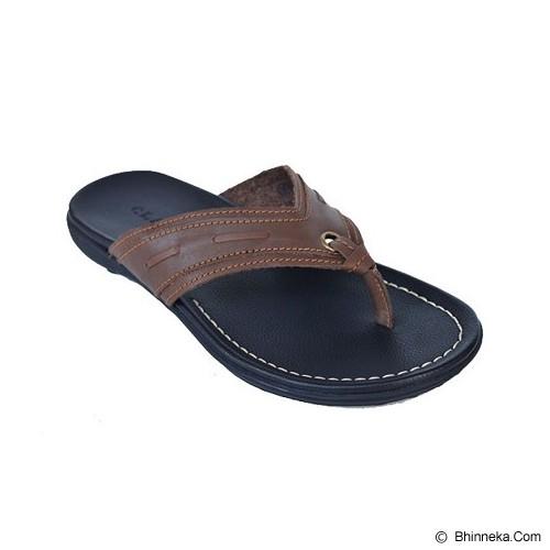 CLARITY Sandal Size 39 [BQ1012] -  Brown - Sandal Casual Pria