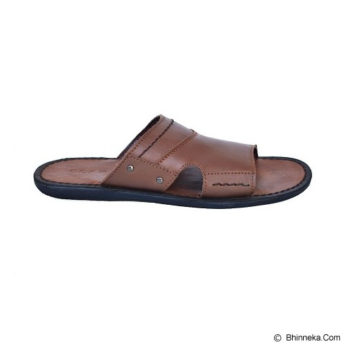 CLARITY Sandal Size 42 [BQ1065] - Brown - Sandal Casual Pria