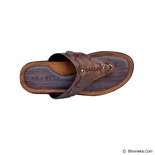 CLARITY Sandal Size 41 [BY1167] - Brown - Sandal Casual Pria
