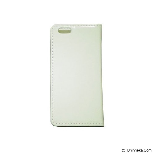 BERZET Leather Wallet Case for iPhone 6 - White - Casing Handphone / Case