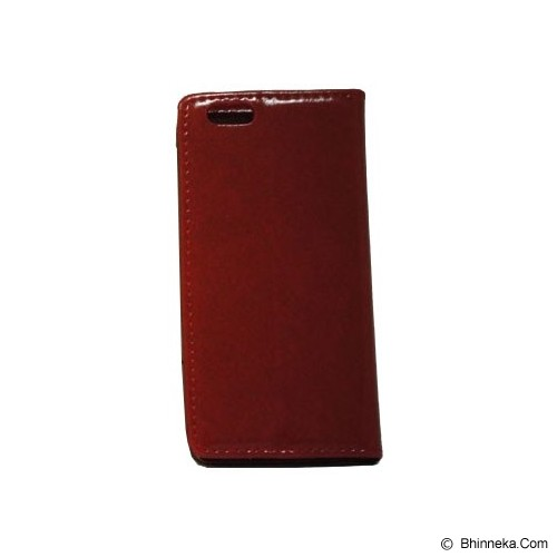 BERZET Leather Wallet Case for iPhone 6 - Red - Casing Handphone / Case