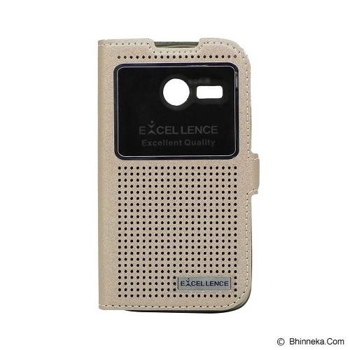 EXCELLENCE Flip Cover Firefly for Lenovo A316 [ALCLNA31FFVE05] - Gold - Casing Handphone / Case